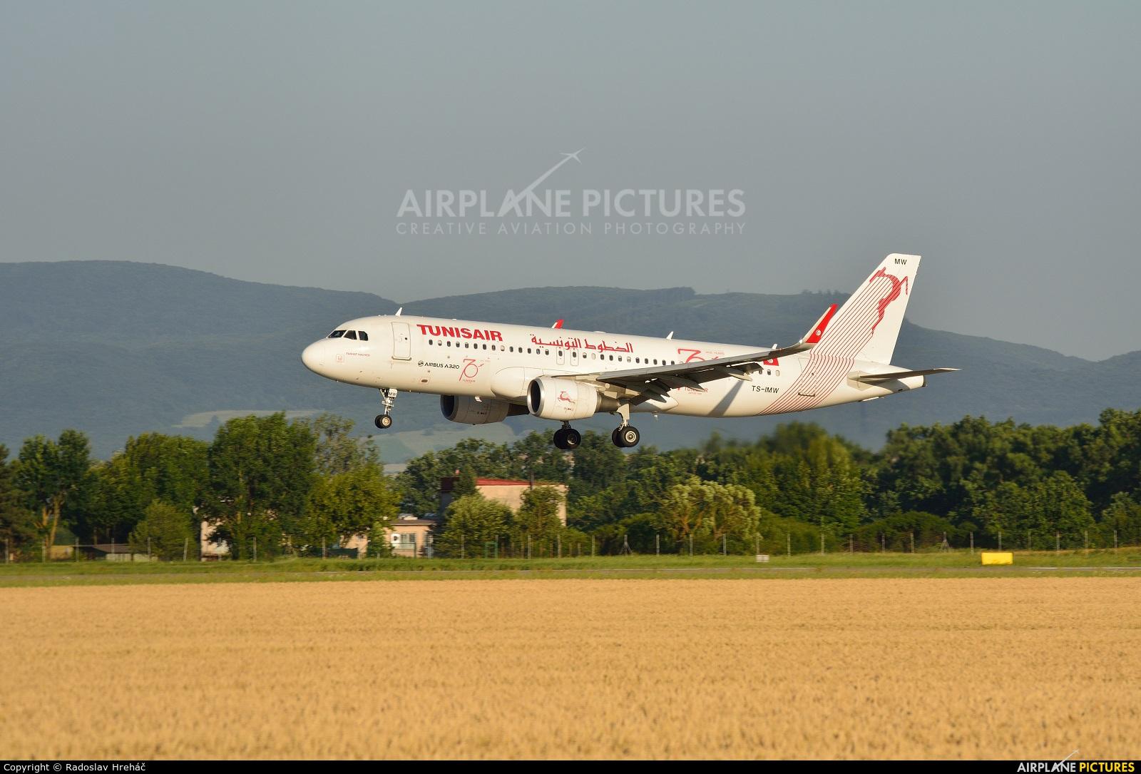 Tunisair TS-IMW aircraft at Košice - Barca