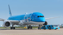 KLM's first 787-10 wears special sticker celebrating 100th anniversary of airline title=