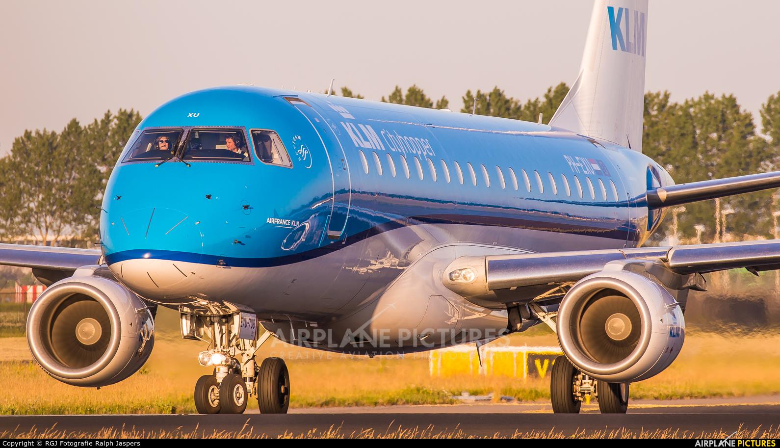 KLM Cityhopper PH-EXU aircraft at Amsterdam - Schiphol