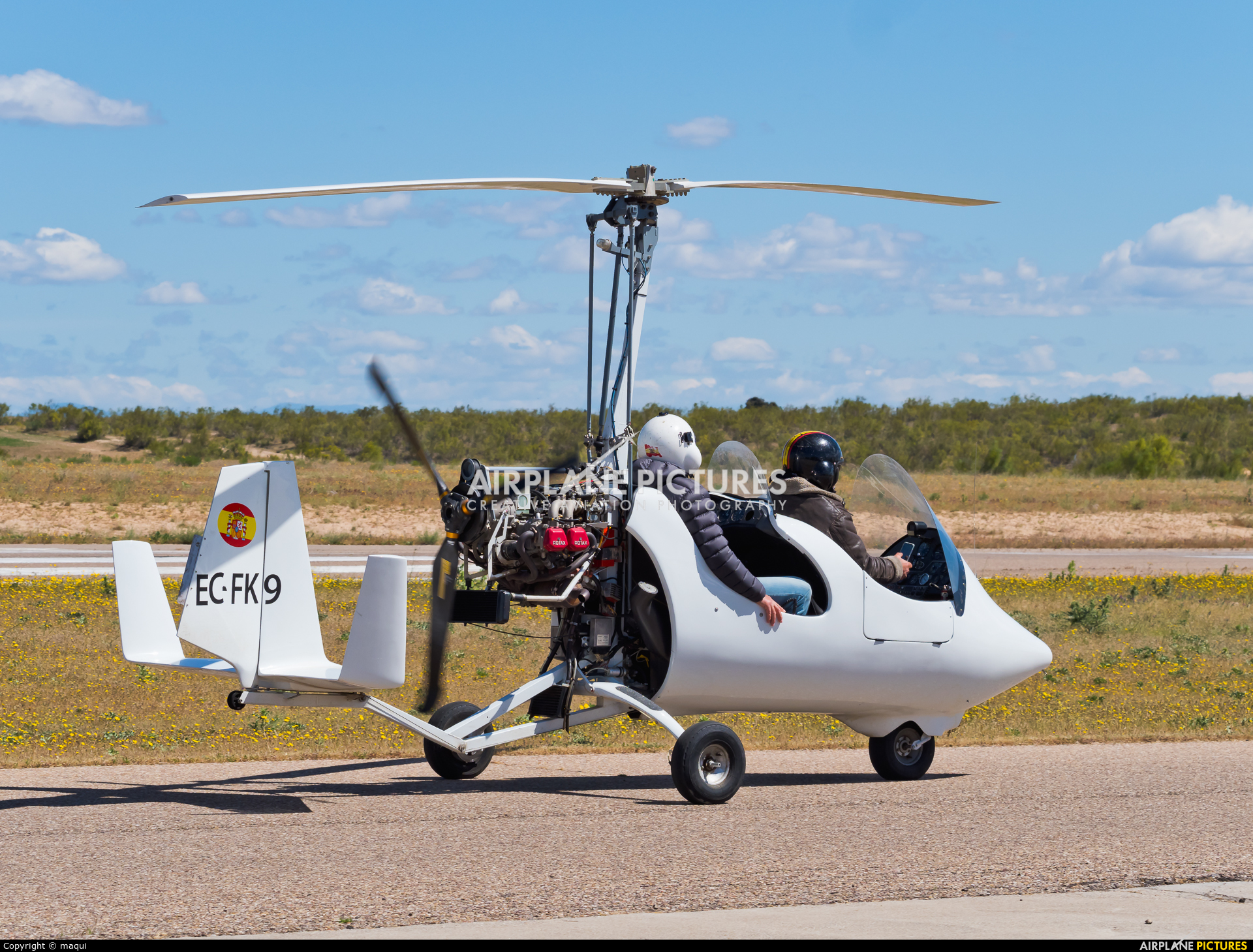 Private EC-FK9 aircraft at Casarrubios del Monte