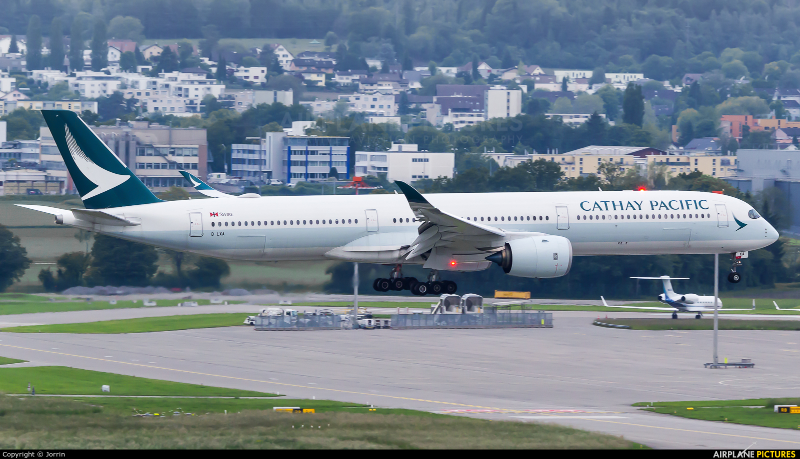 Cathay Pacific B-LXA aircraft at Zurich