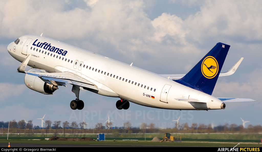 Lufthansa D-AINI aircraft at Amsterdam - Schiphol