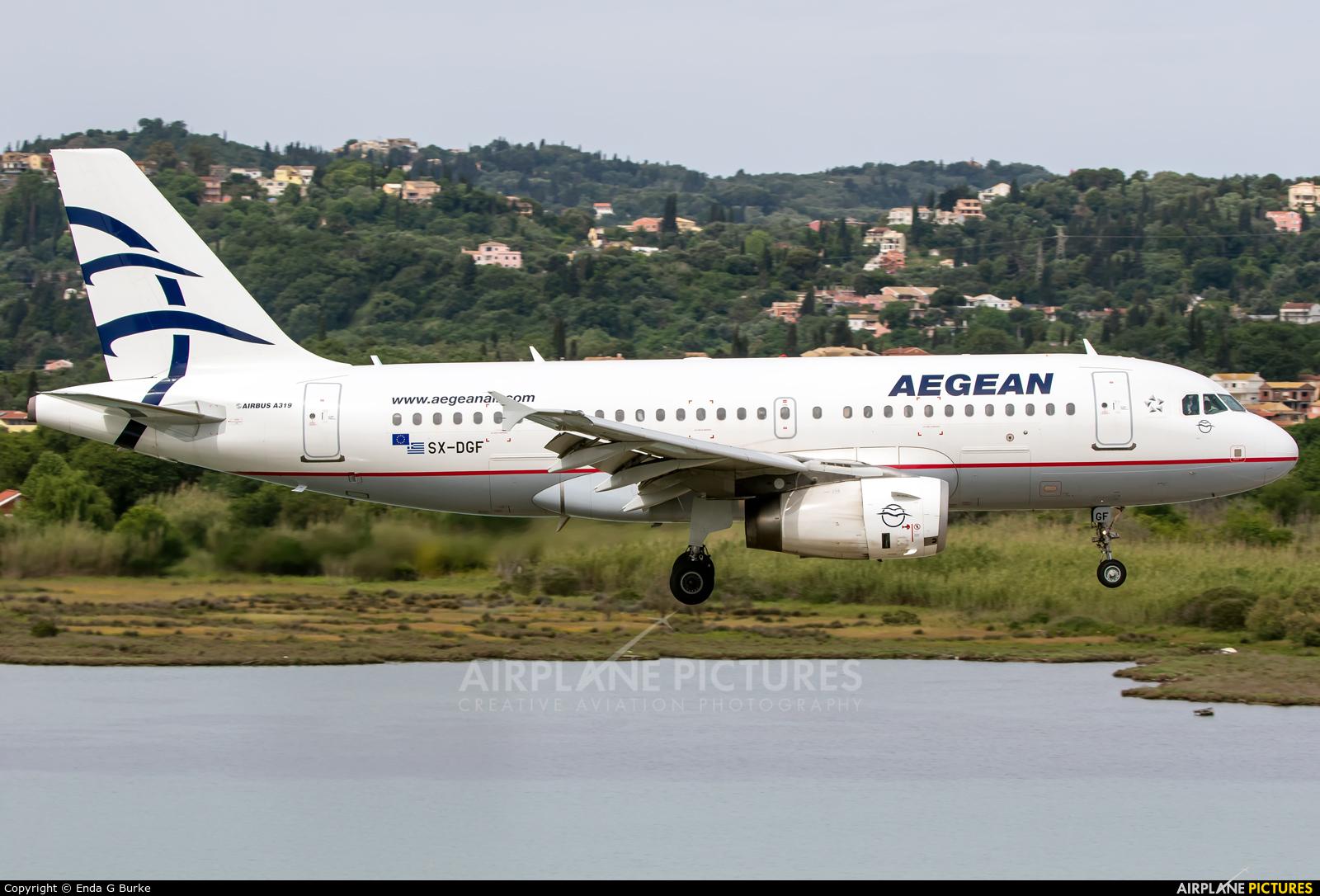 Aegean Airlines SX-DGF aircraft at Corfu - Ioannis Kapodistrias