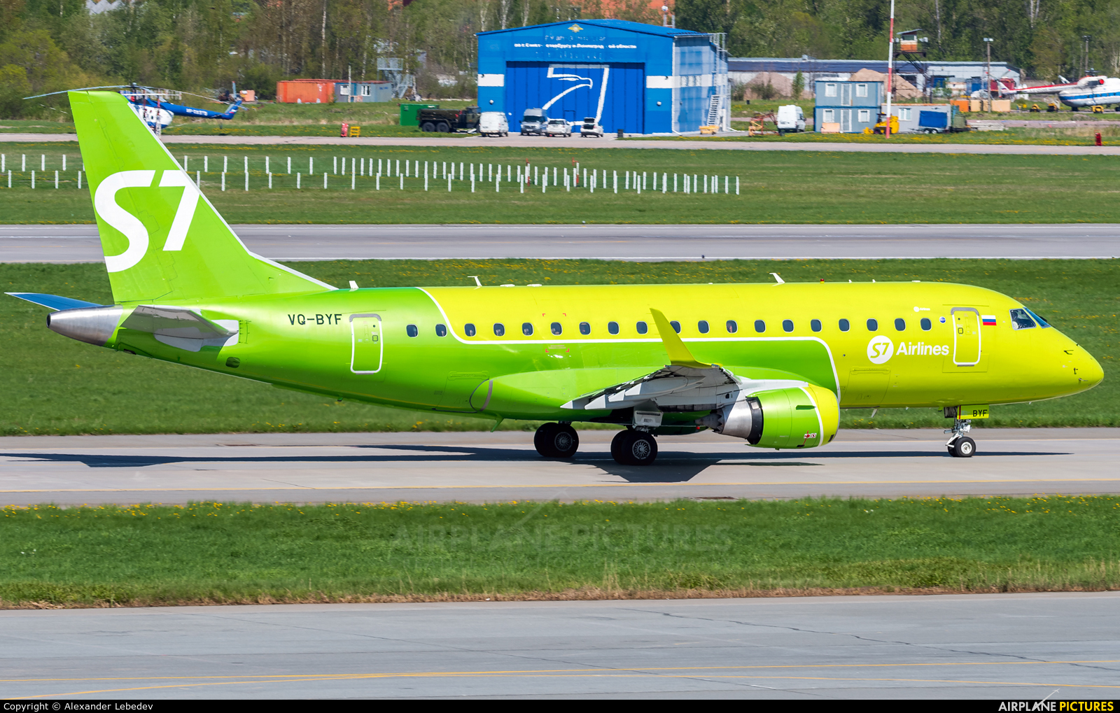 S7 Airlines VQ-BYF aircraft at St. Petersburg - Pulkovo