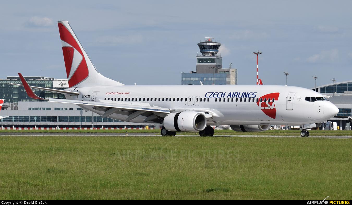 CSA - Czech Airlines OK-TST aircraft at Prague - Václav Havel