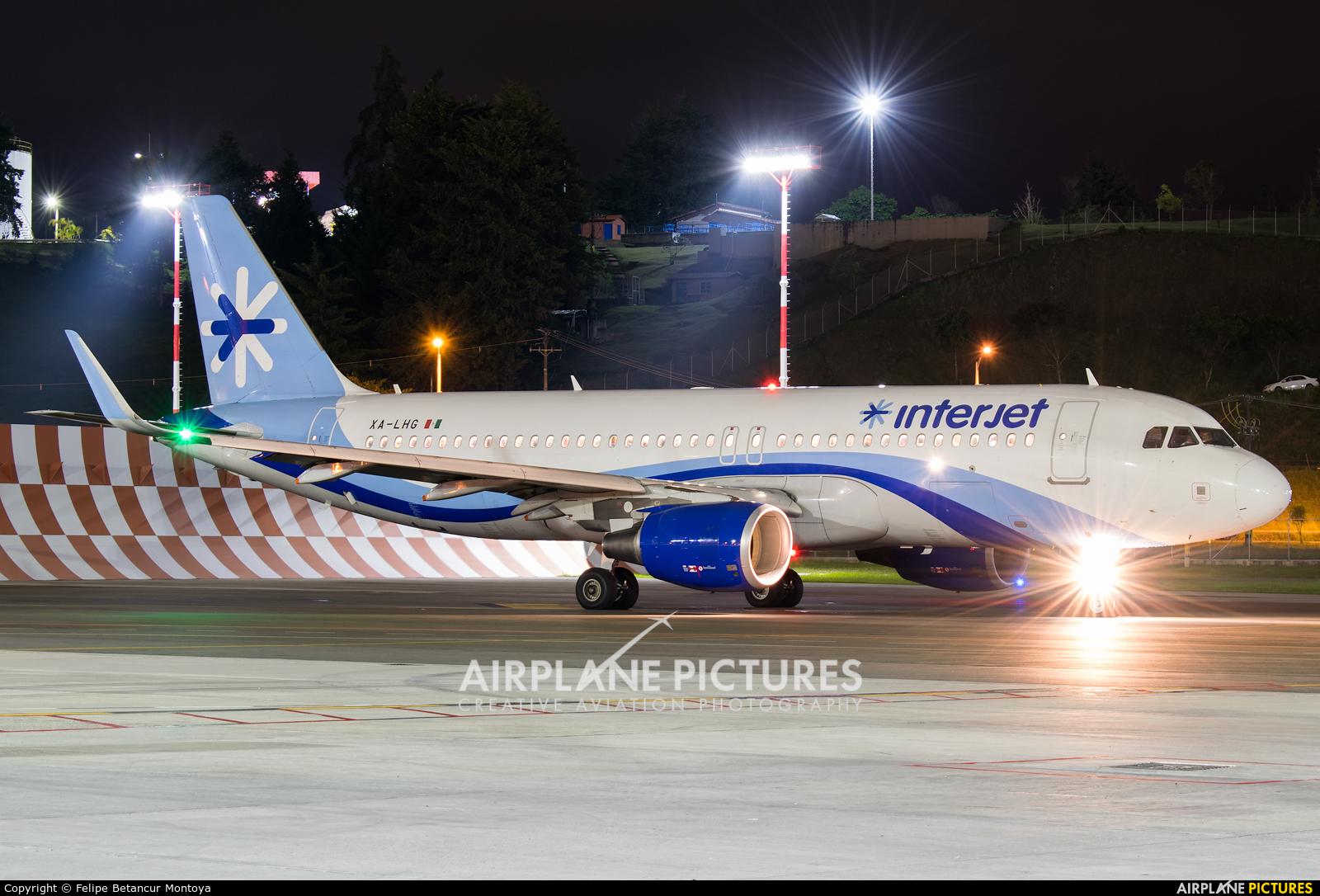 Interjet XA-LHG aircraft at Medellin - Jose Maria Cordova Intl
