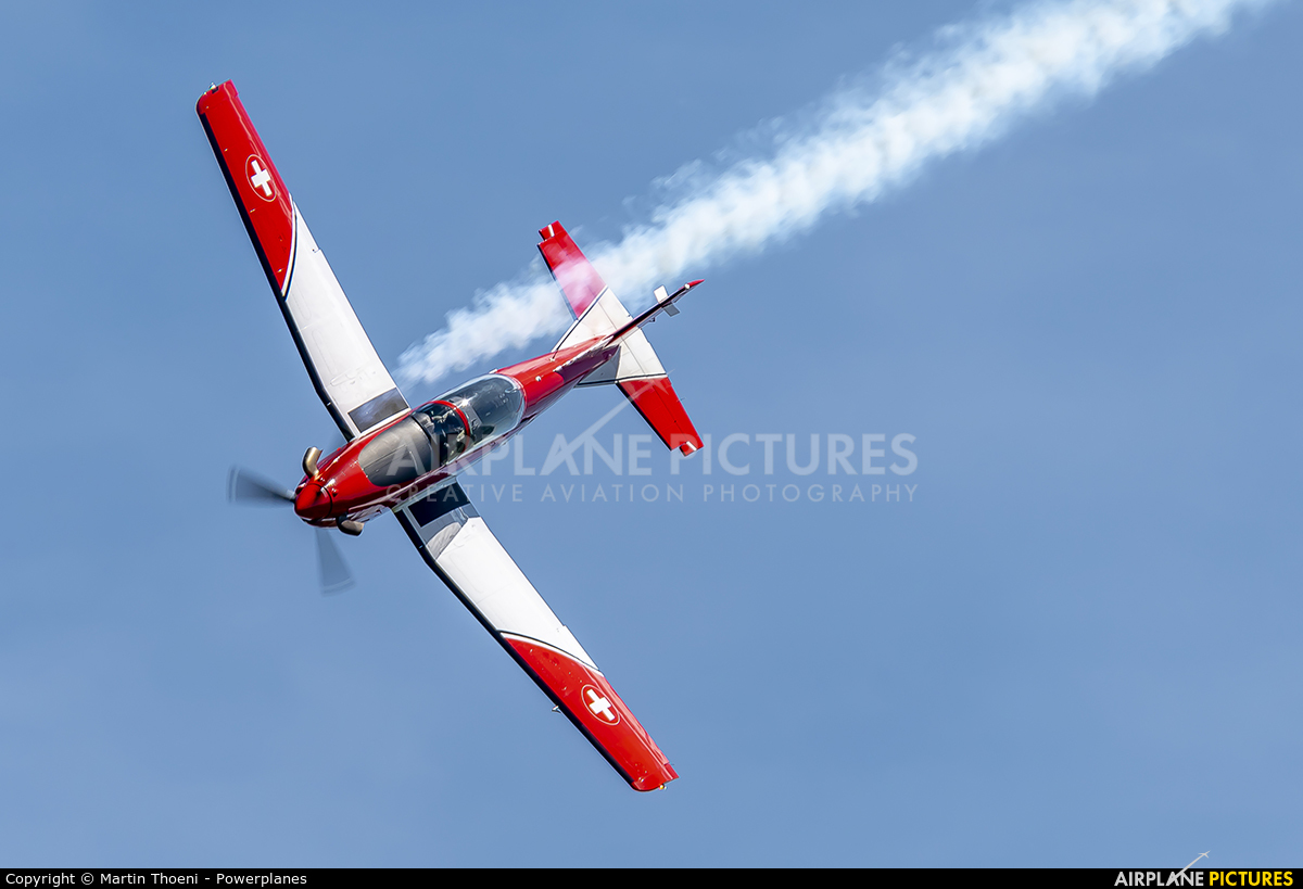 Switzerland - Air Force: PC-7 Team A-915 aircraft at Grenchen