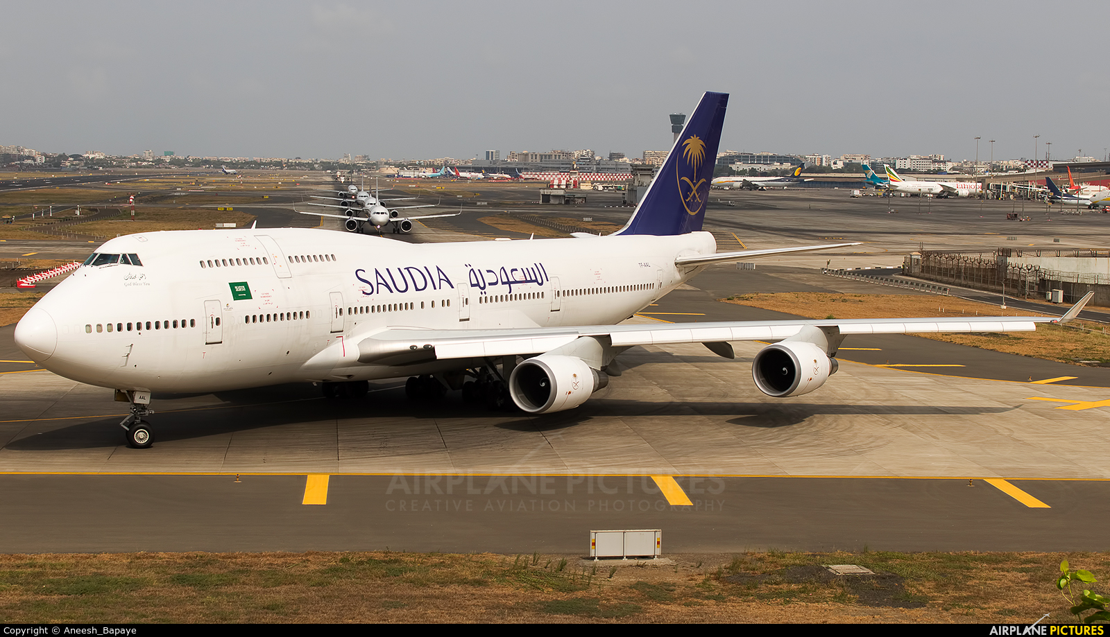 Saudi Arabian Airlines TF-AAL aircraft at Mumbai - Chhatrapati Shivaji Intl