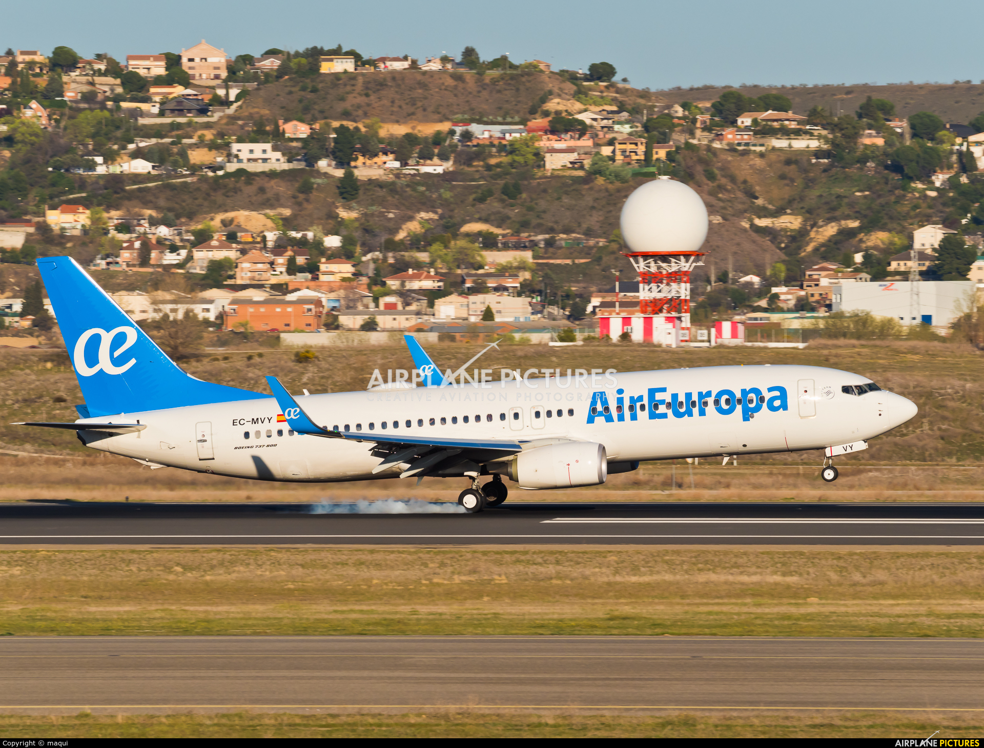 Air Europa EC-MVY aircraft at Madrid - Barajas