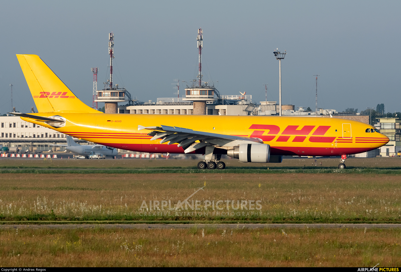 DHL Cargo D-AEAD aircraft at Budapest Ferenc Liszt International Airport