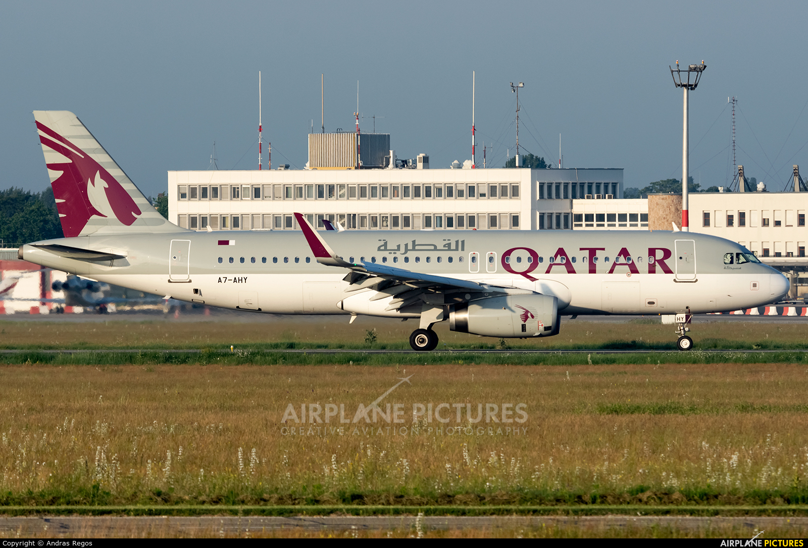 Qatar Airways A7-AHY aircraft at Budapest Ferenc Liszt International Airport