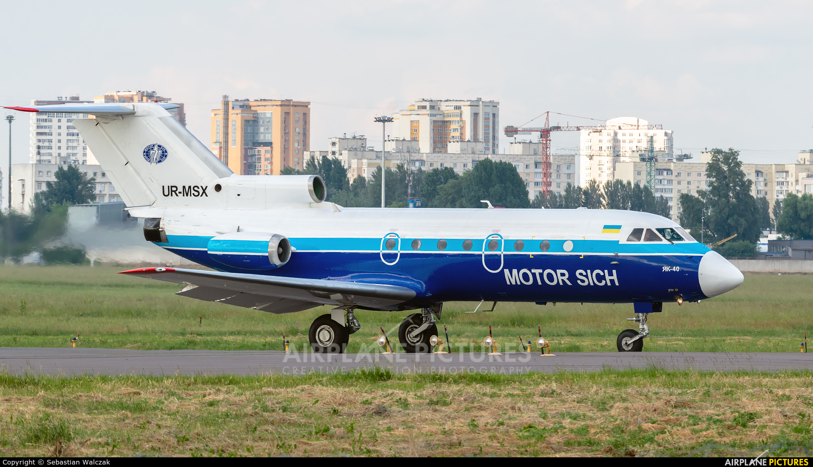Motor Sich UR-MSX aircraft at Kiev - Zhulyany