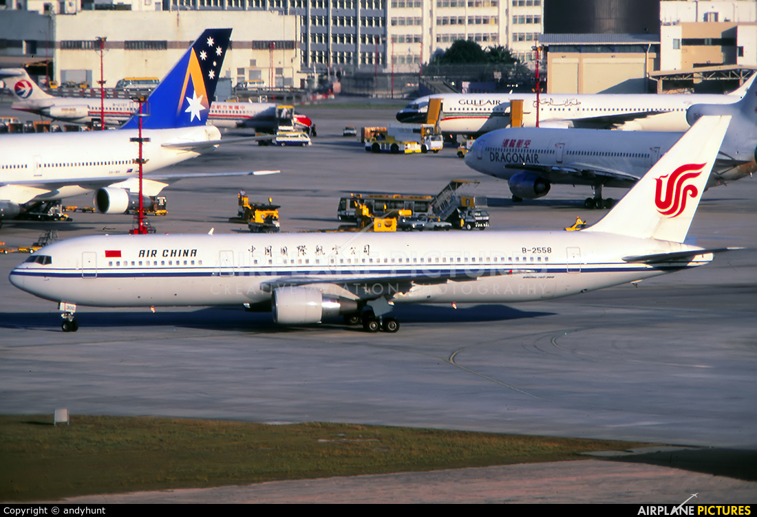 Air China B-2558 aircraft at HKG - Kai Tak Intl CLOSED