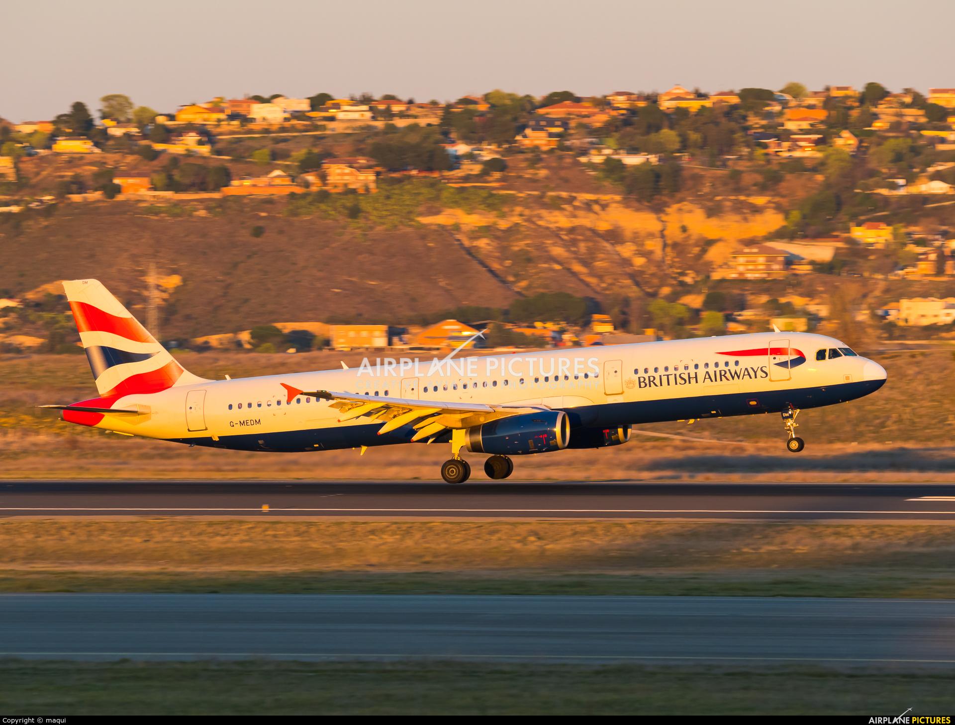 British Airways G-MEDM aircraft at Madrid - Barajas