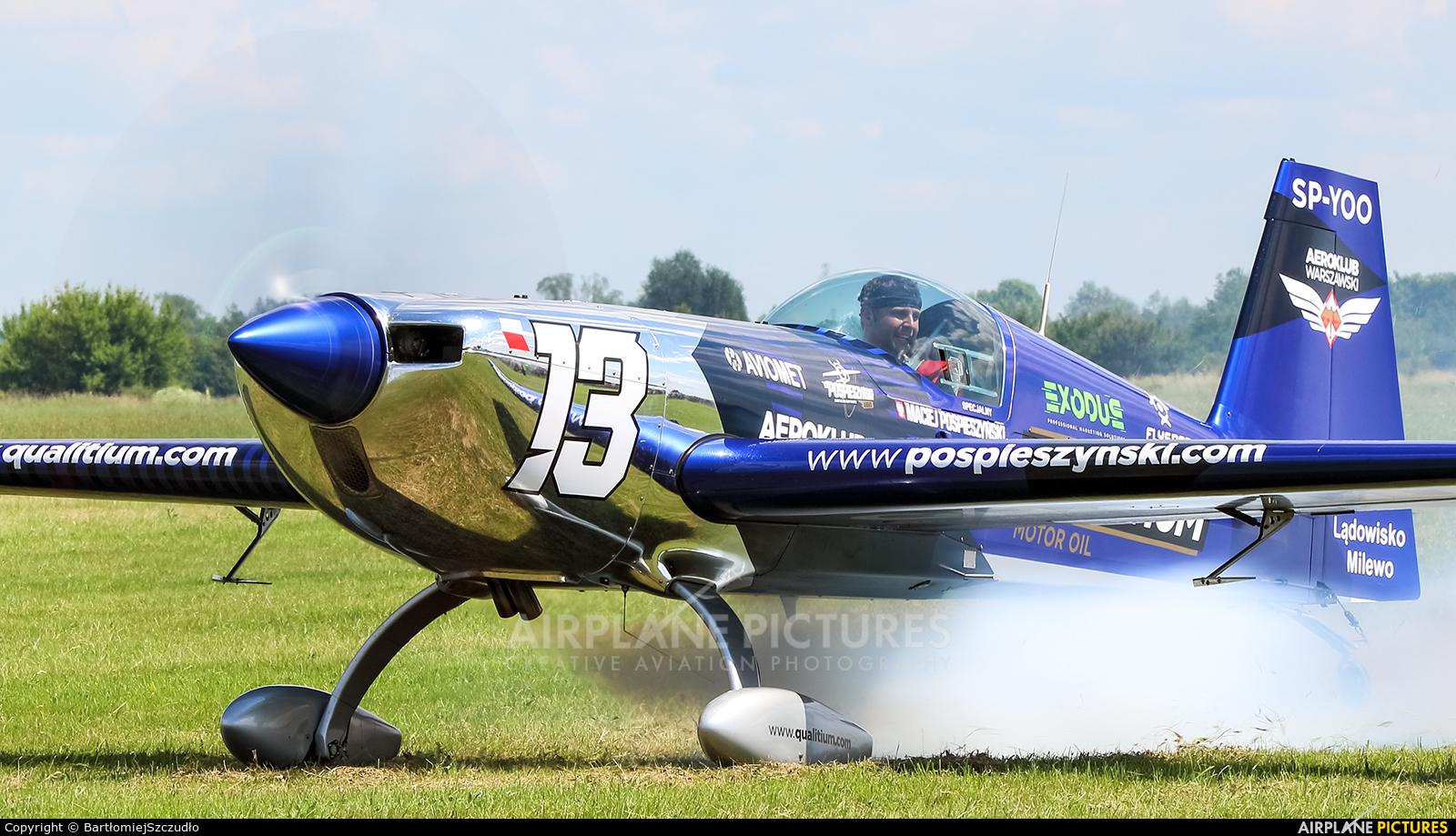 Maciej Pospieszyński - Aerobatics SP-YOO aircraft at Stalowa Wola-Turbia
