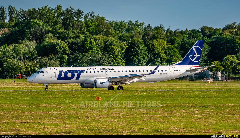 LOT - Polish Airlines SP-LNM aircraft at Kraków - John Paul II Intl