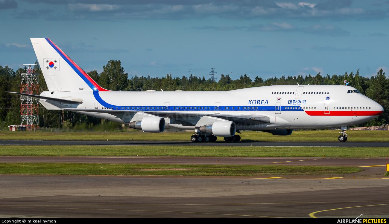 Korea (South) - Air Force 10001 aircraft at Helsinki - Vantaa