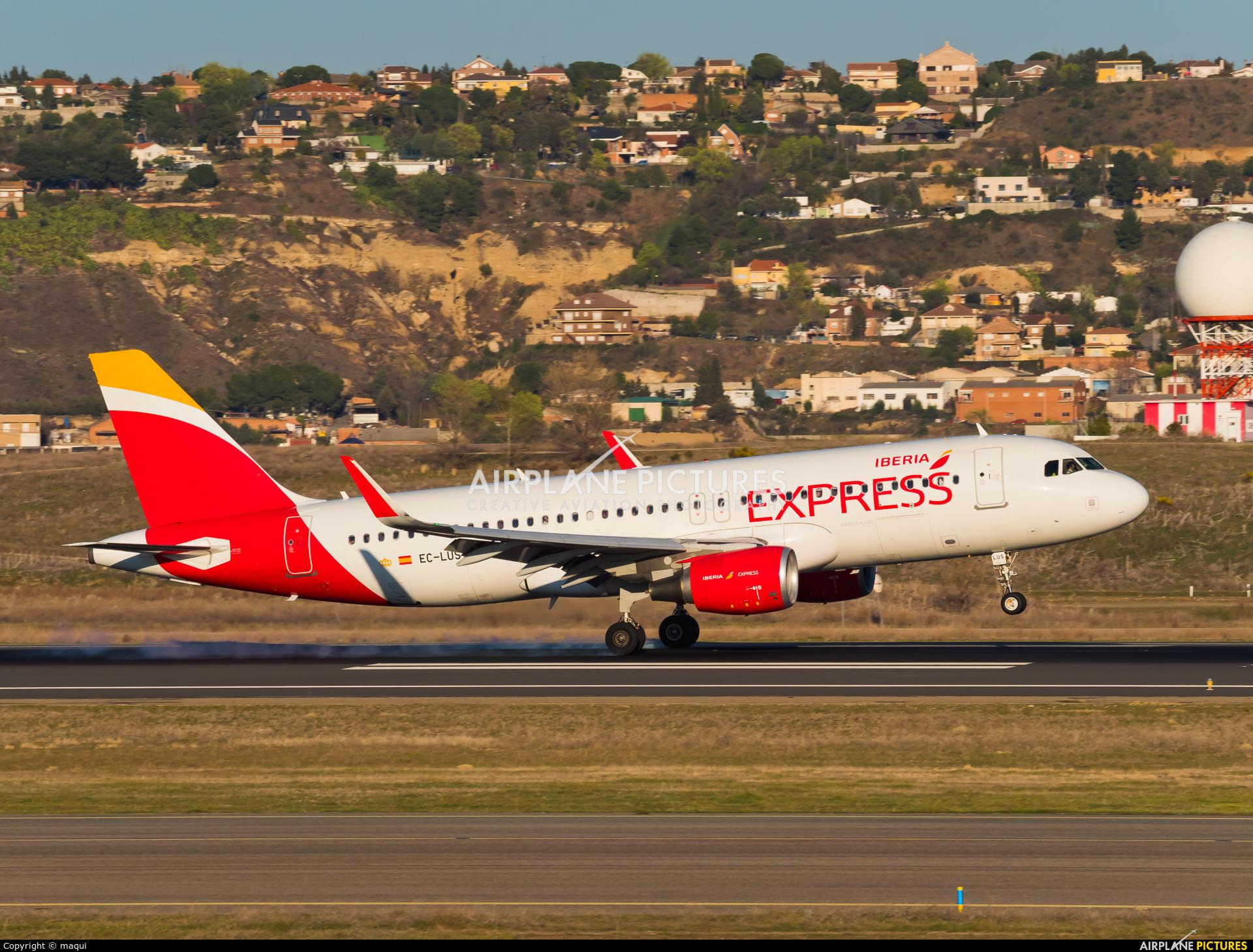 Iberia Express EC-LUS aircraft at Madrid - Barajas