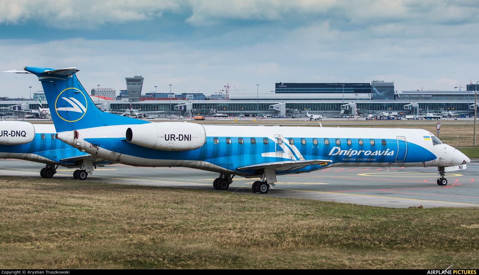 Dniproavia UR-DNI aircraft at Warsaw - Frederic Chopin