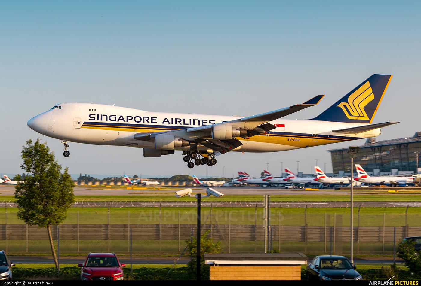 Singapore Airlines Cargo 9V-SFK aircraft at London - Heathrow