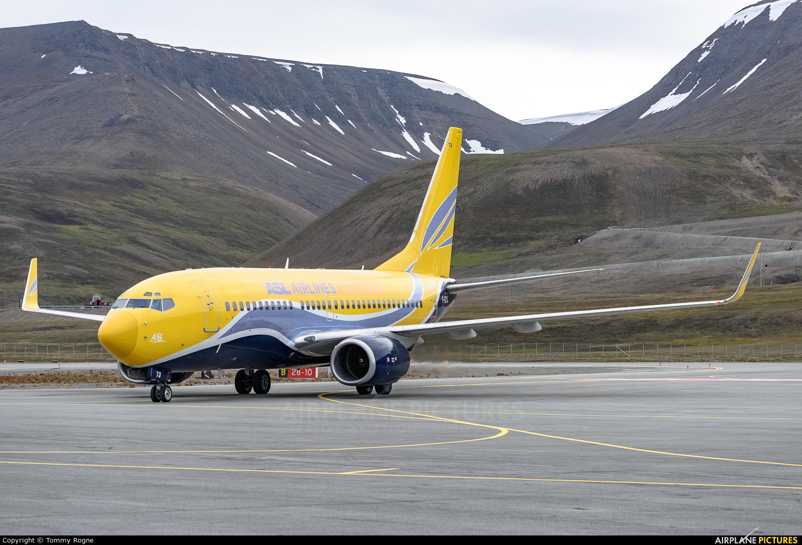 ASL Airlines F-GZTQ aircraft at Svalbard - Longyearbyen