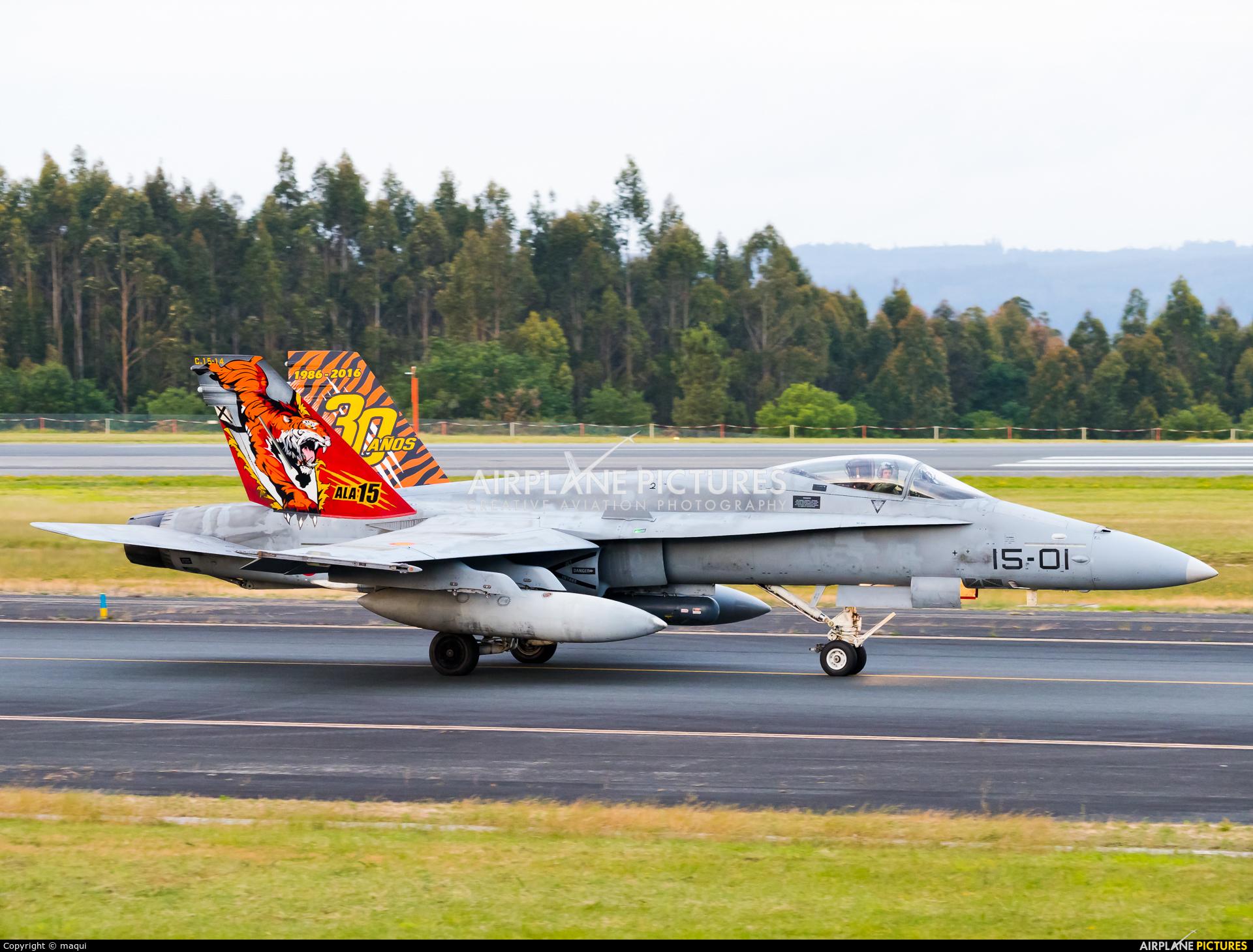 Spain - Air Force C.15-14 aircraft at Santiago de Compostela