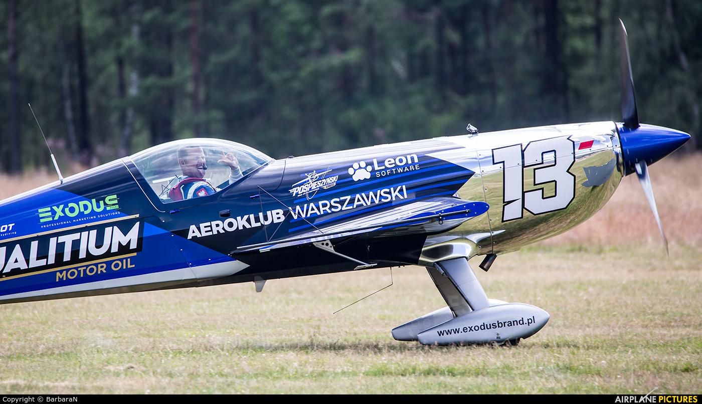 Maciej Pospieszyński - Aerobatics SP-YOO aircraft at Nowy Targ