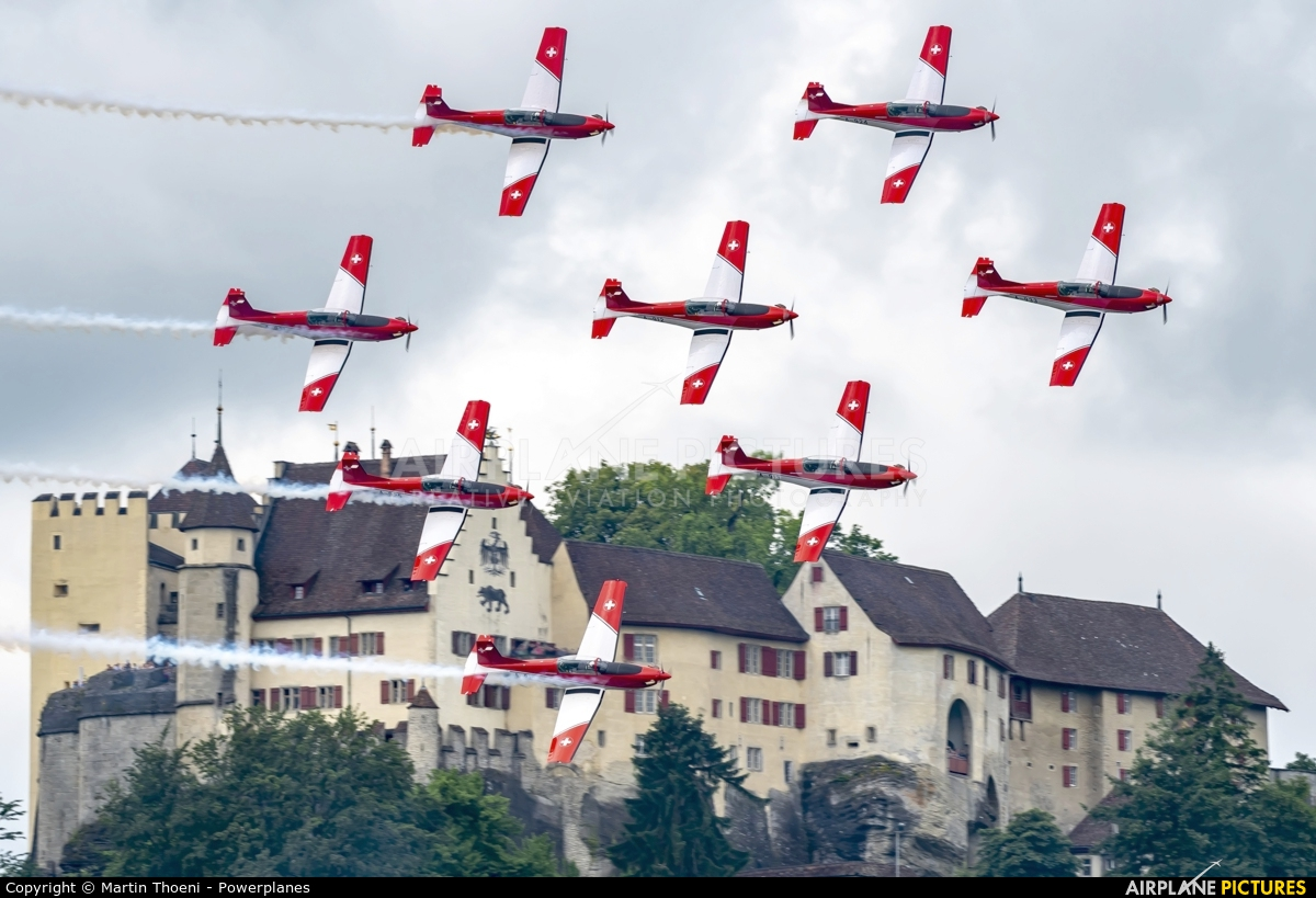 Switzerland - Air Force: PC-7 Team A-924 aircraft at Off Airport - Lenzburg