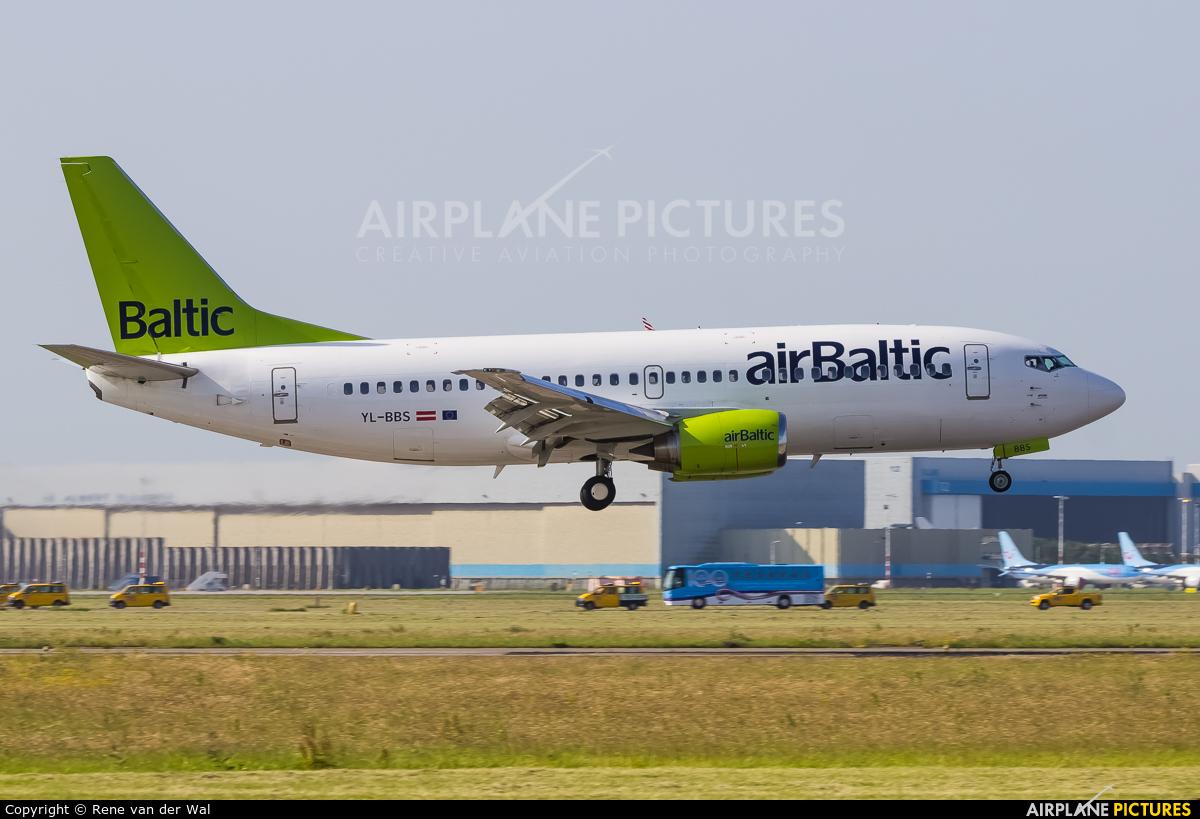 Air Baltic YL-BBS aircraft at Amsterdam - Schiphol
