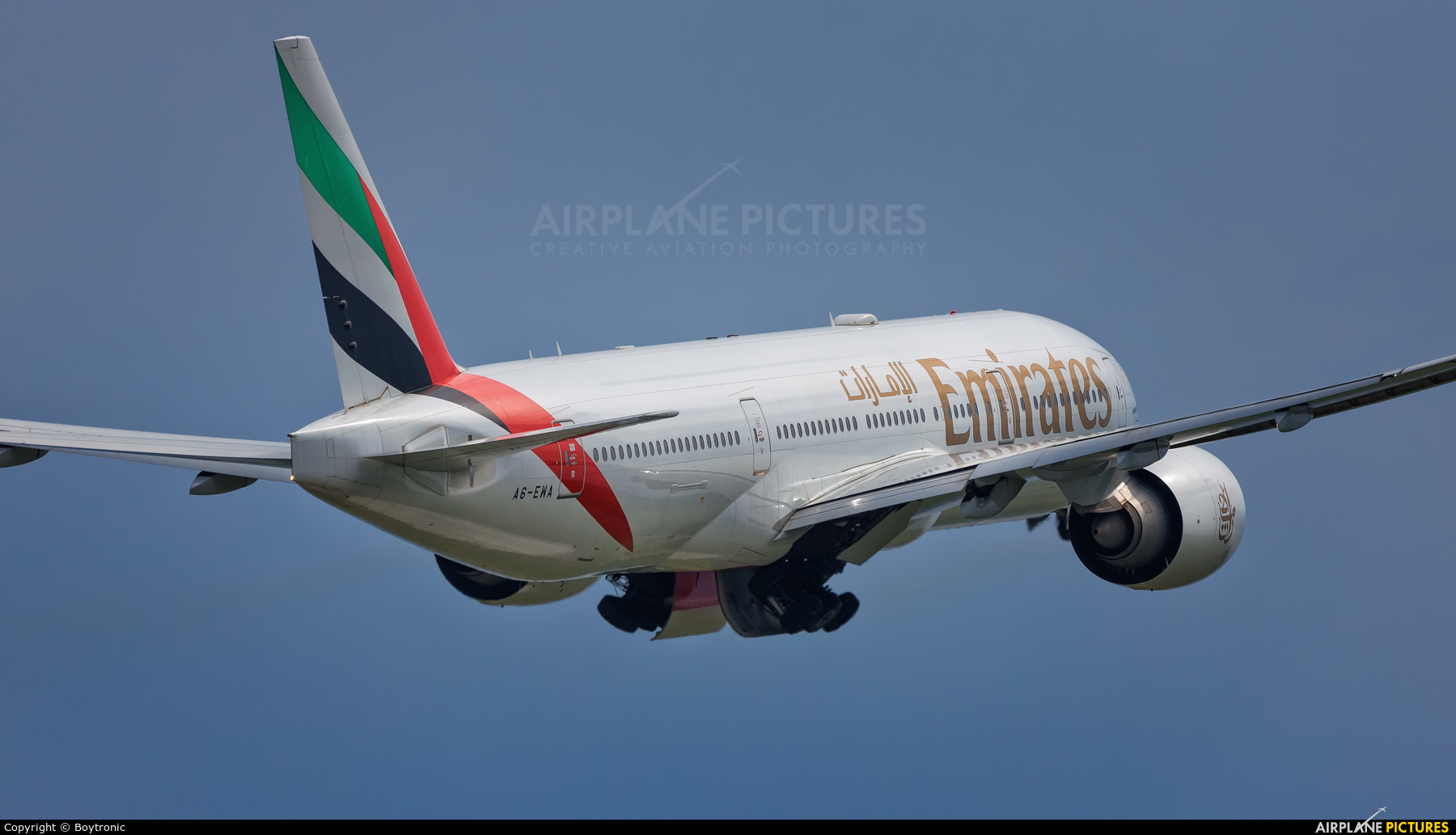 Emirates Airlines A6-EWA aircraft at Zagreb