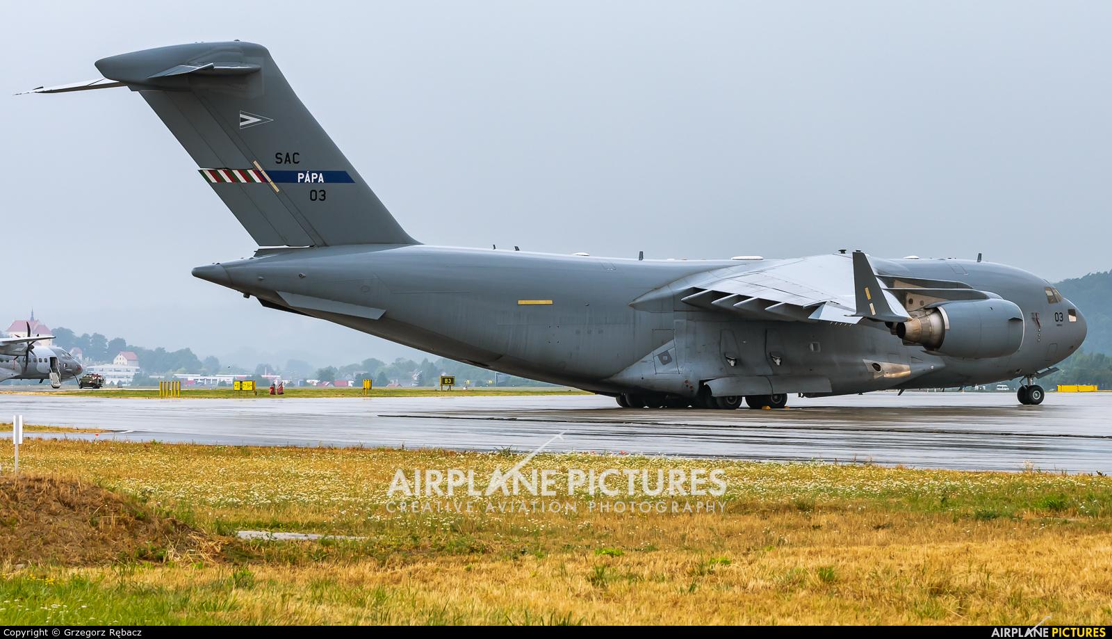 Strategic Airlift Capability NATO 08-0003 aircraft at Kraków - John Paul II Intl