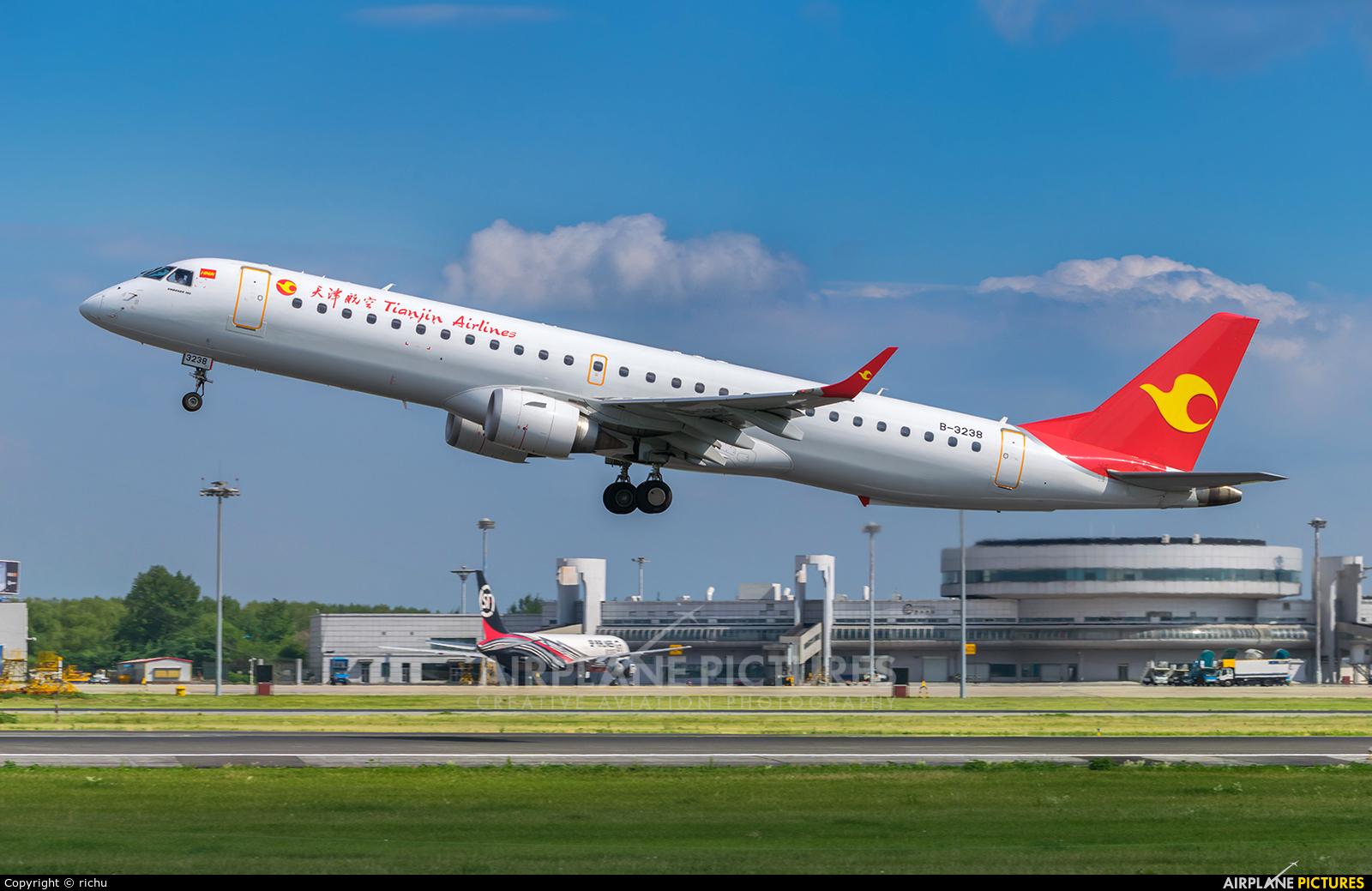 Tianjin Airlines B-3238 aircraft at Shenyang-Taoxian