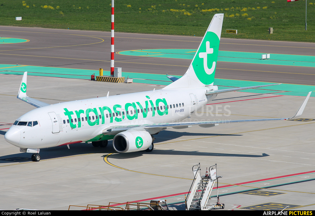 Transavia PH-XRX aircraft at Rotterdam