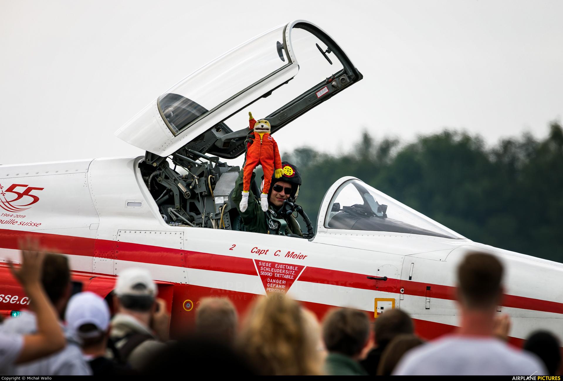 Switzerland - Air Force:  Patrouille de Suisse J-3085 aircraft at Uden - Volkel