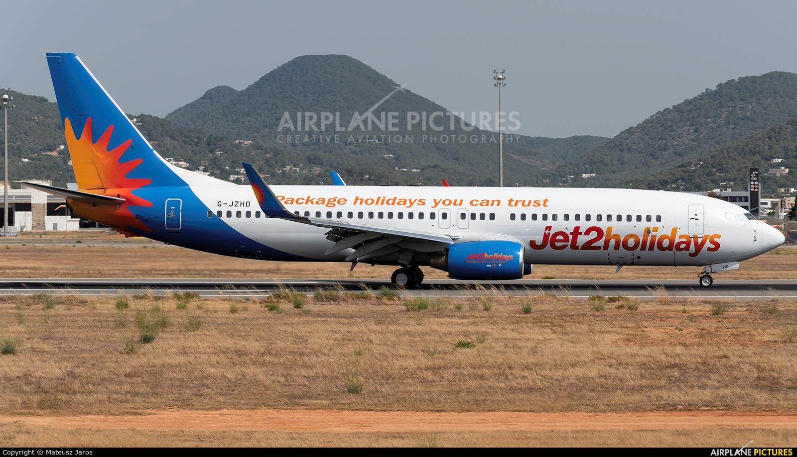 Jet2 G-JZHD aircraft at Ibiza