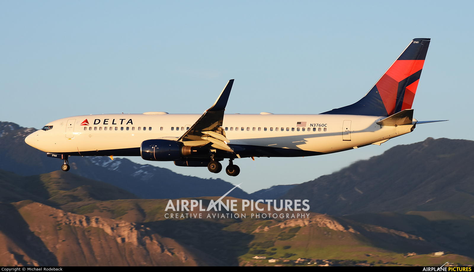 Delta Air Lines N3760C aircraft at Salt Lake City