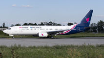 Rare visit of MyWay Airlines B738 to Craiova title=