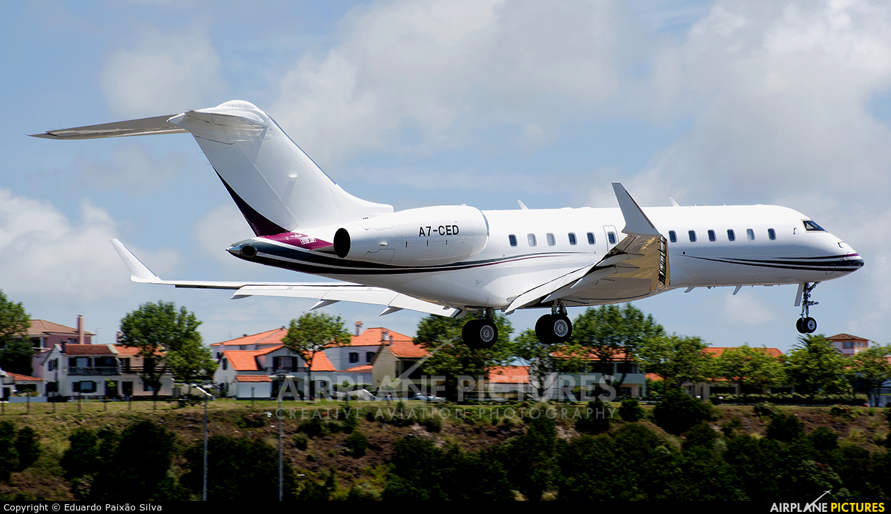 Qatar Executive A7-CED aircraft at Azores - Ponta Delgada