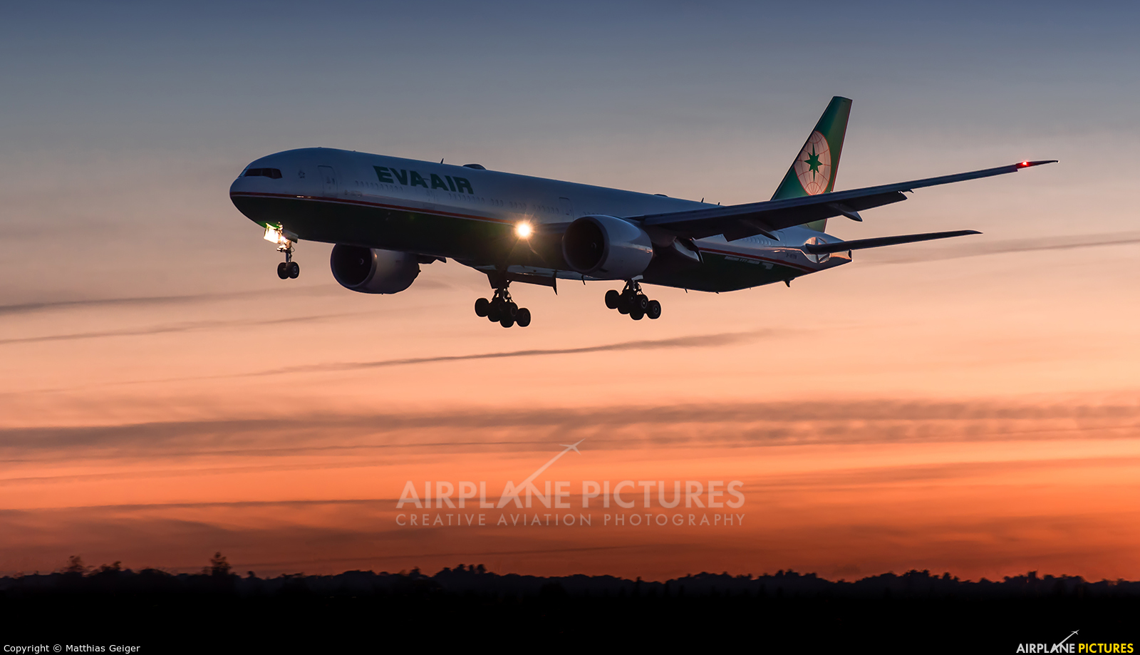 Eva Air - aircraft at London - Heathrow