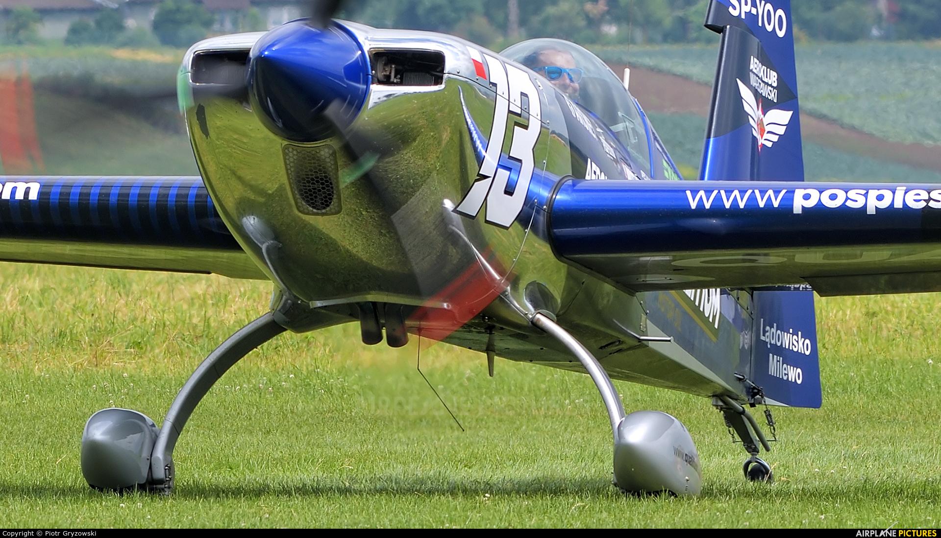 Maciej Pospieszyński - Aerobatics SP-YOO aircraft at Kraków - Pobiednik Wielki