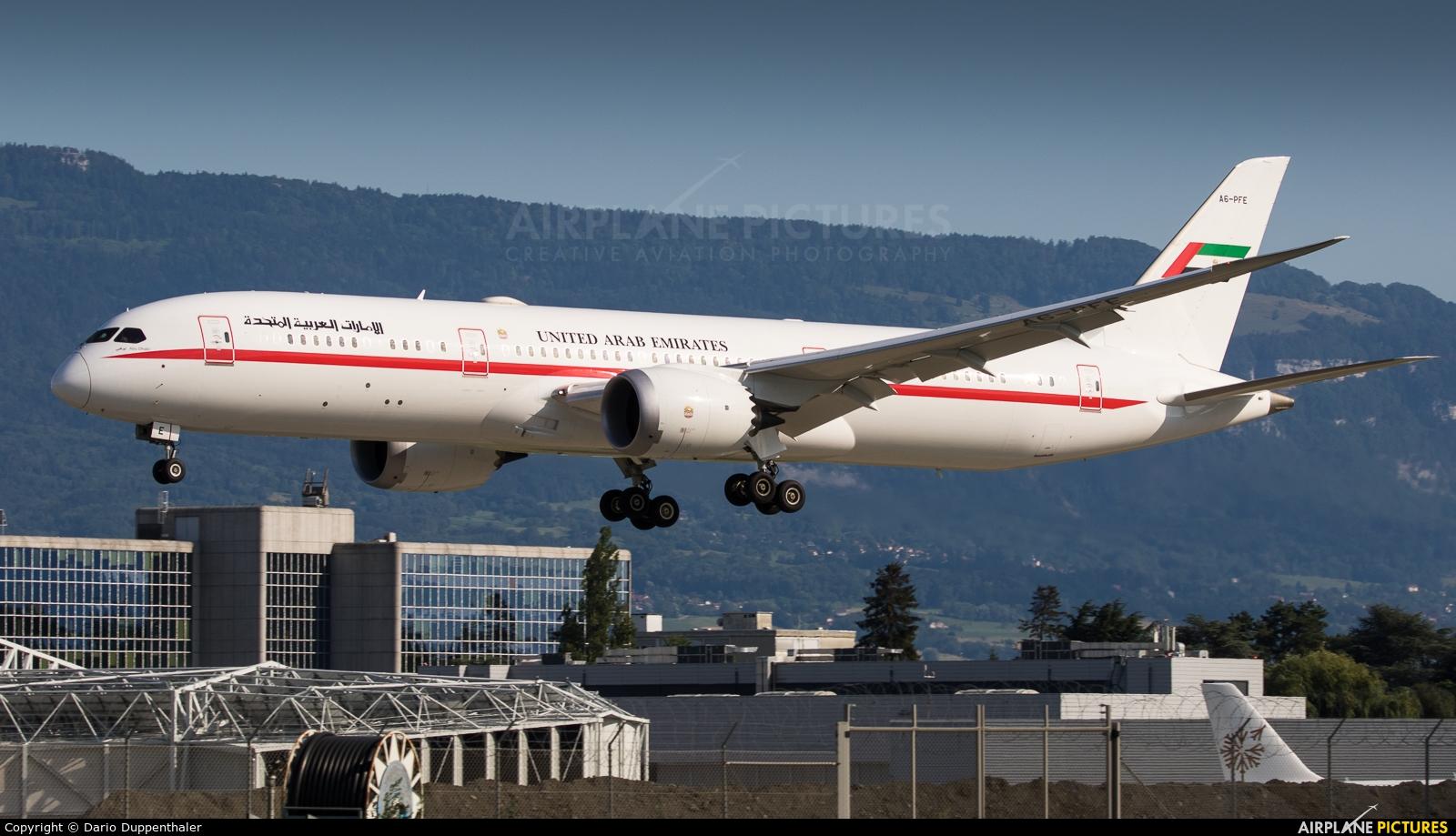 Abu Dhabi Amiri Flight A6-PFE aircraft at Geneva Intl