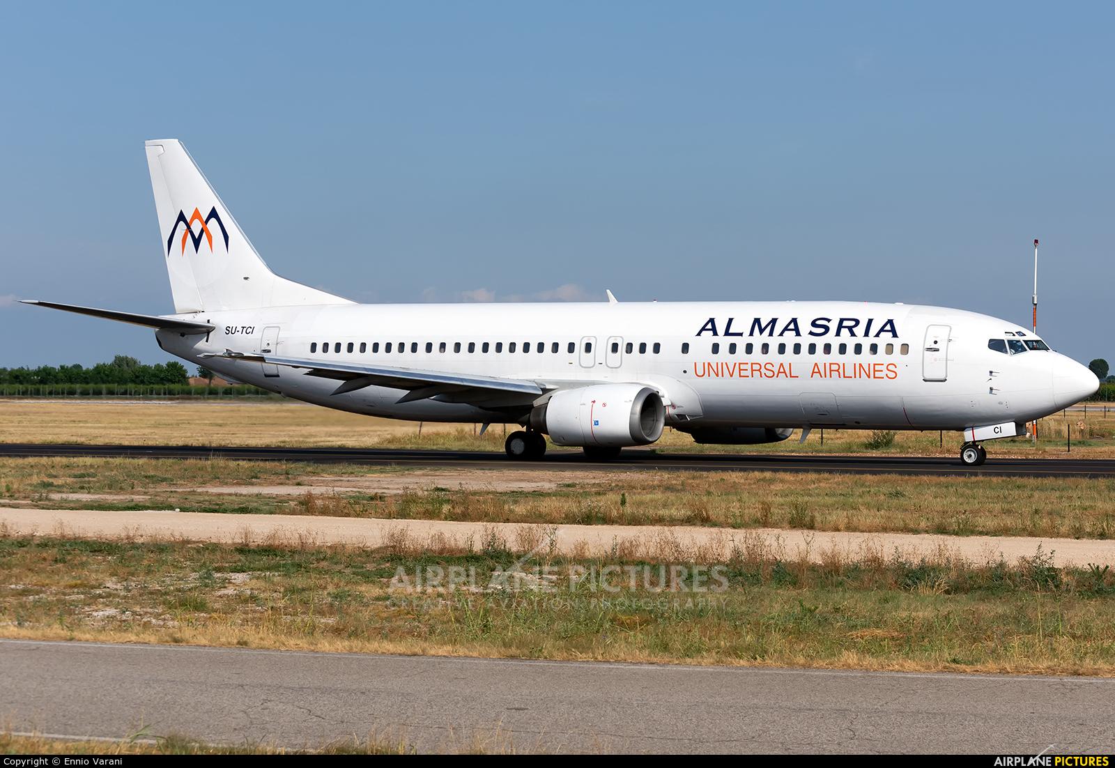 Almasria Universal Airlines SU-TCI aircraft at Verona - Villafranca