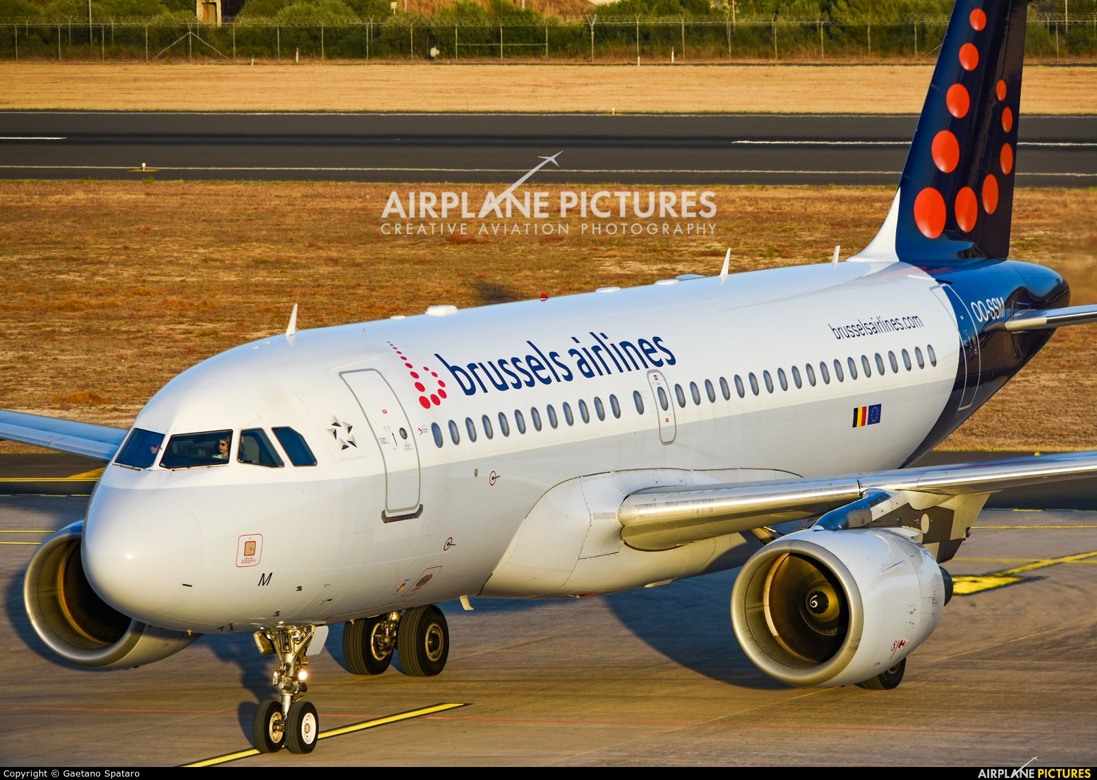 Brussels Airlines OO-SSM aircraft at Comiso - Sicily