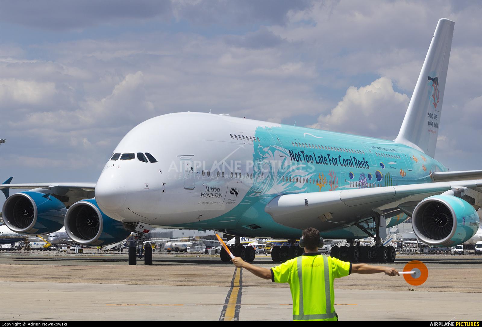 Hi Fly Malta 9H-MIP aircraft at Madrid - Barajas