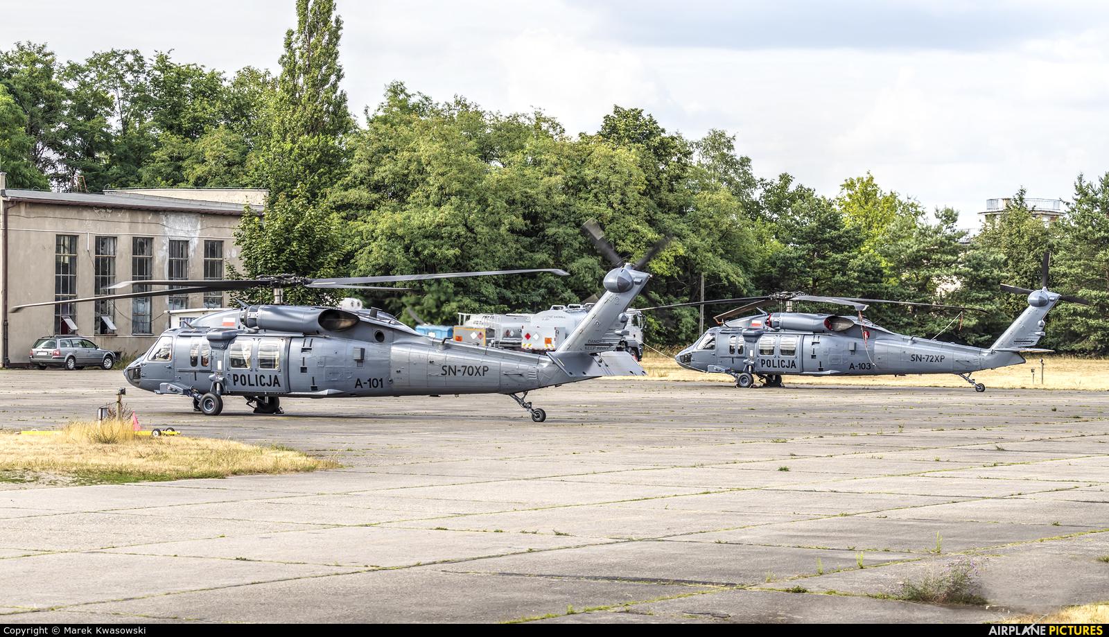 Poland - Police SN-70XP aircraft at Warsaw - Babice