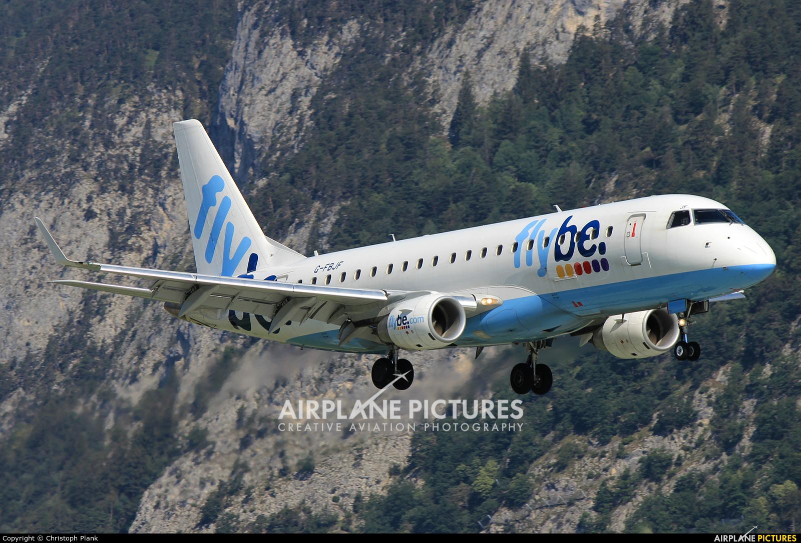 Flybe G-FBJF aircraft at Innsbruck