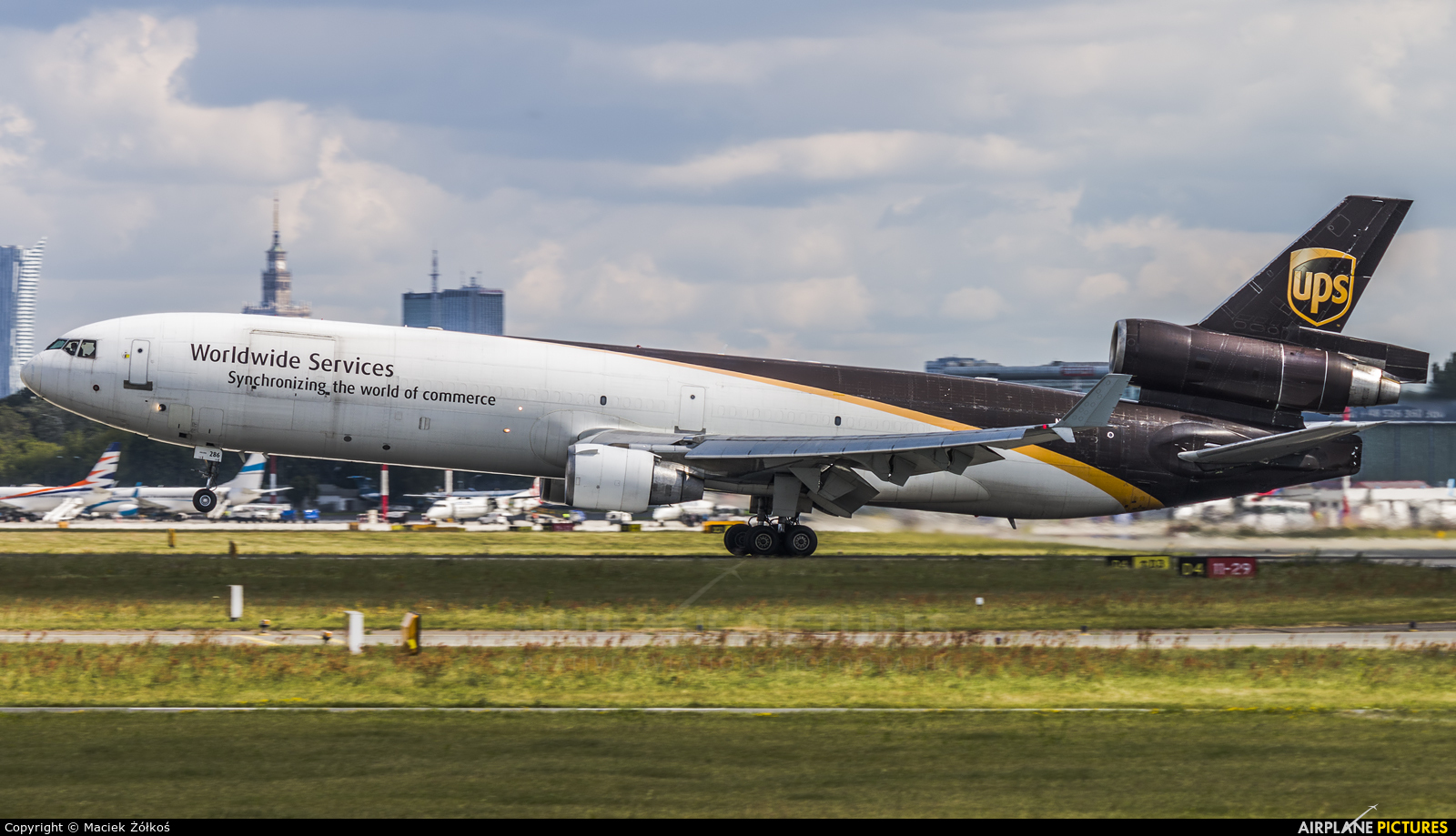 UPS - United Parcel Service N286UP aircraft at Warsaw - Frederic Chopin