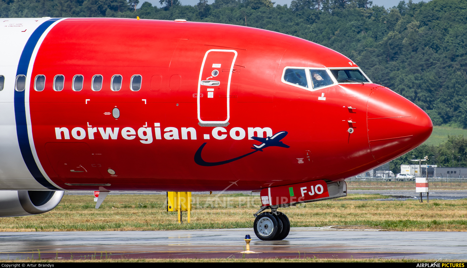 Norwegian Air International EI-FJO aircraft at Kraków - John Paul II Intl