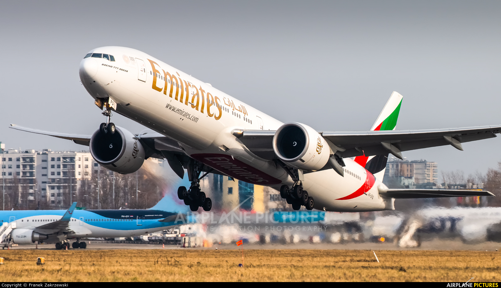 Emirates Airlines A6-EPQ aircraft at Warsaw - Frederic Chopin