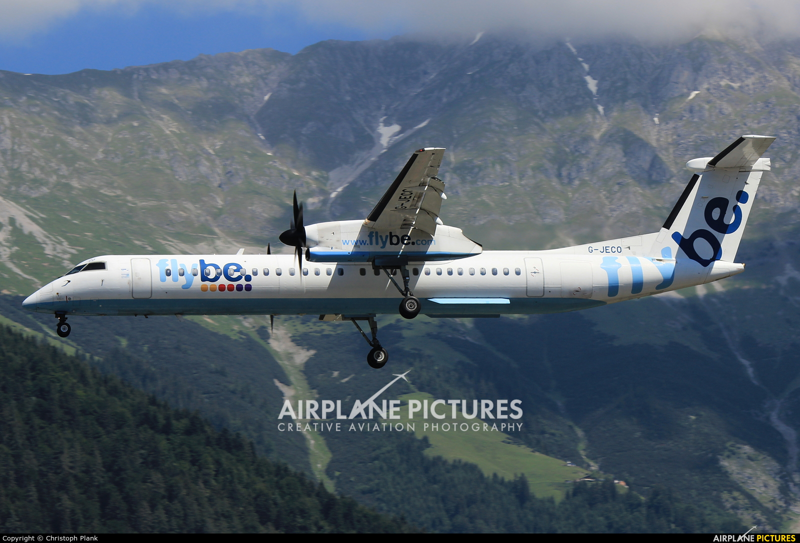 Flybe G-JECO aircraft at Innsbruck